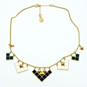 TRINA TURK~triangle & pyramid~GOLD COLLAR NECKLACE